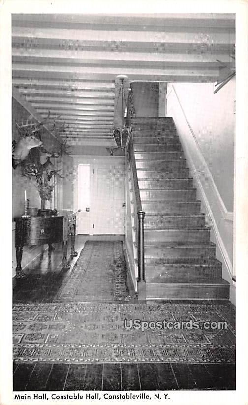 Main Hall - Constableville, New York NY Postcard