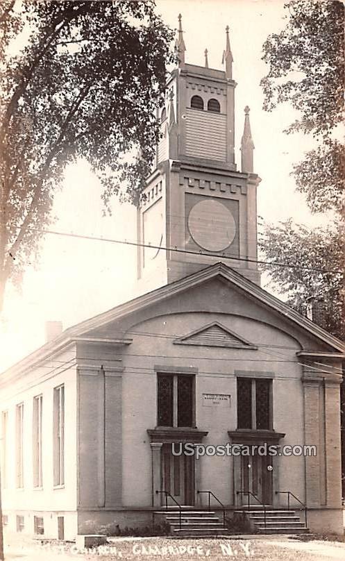 Baptist Church - Cambridge, New York NY Postcard