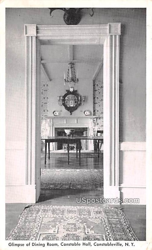 Dining Room - Constableville, New York NY Postcard