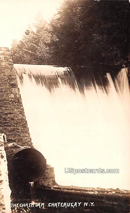 The Chasm Dam - Chateaugay, New York NY Postcard