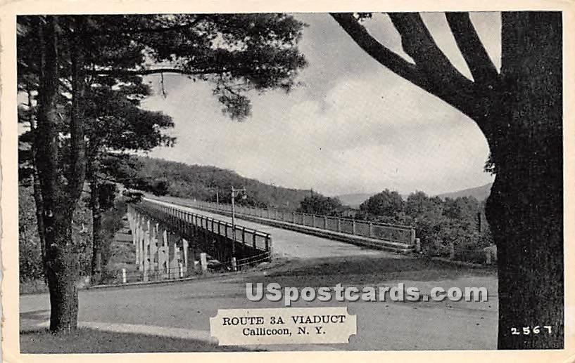 Route 3A Viaduct - Callicoon, New York NY Postcard