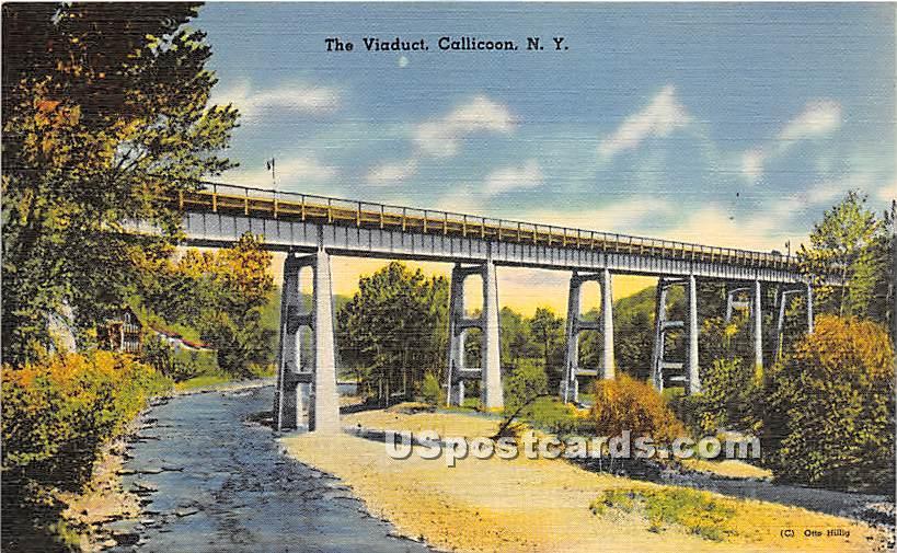 The Viaduct - Callicoon, New York NY Postcard