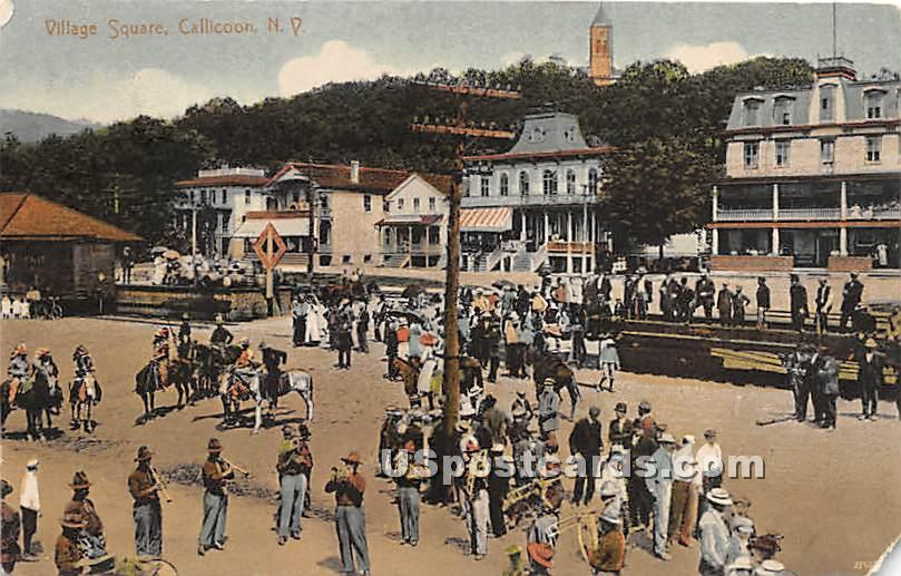 Village Square - Callicoon, New York NY Postcard