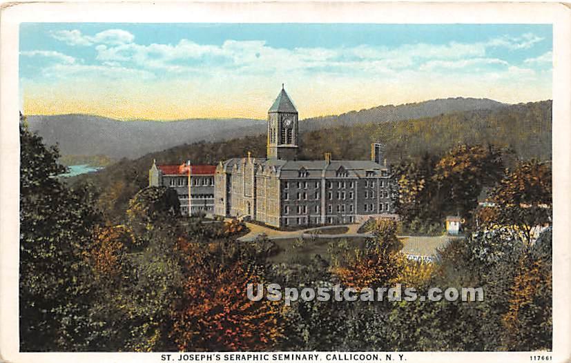 St Joseph's Seraphic Seminary - Callicoon, New York NY Postcard