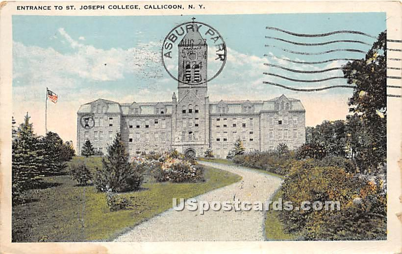 Entrance to St Joseph College - Callicoon, New York NY Postcard
