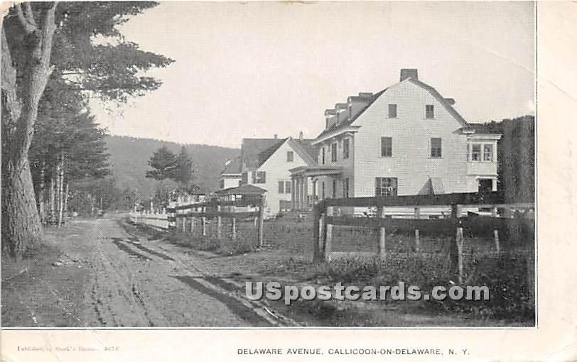 Delaware Avenue - Callicoon, New York NY Postcard