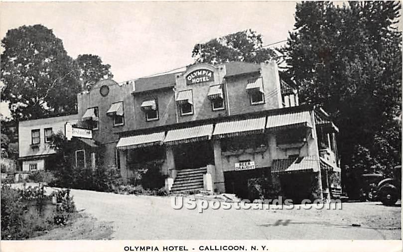 Olympia Hotel - Callicoon, New York NY Postcard