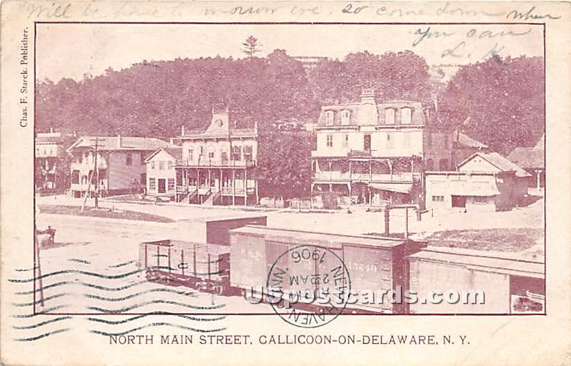 North Main Street - Callicoon, New York NY Postcard