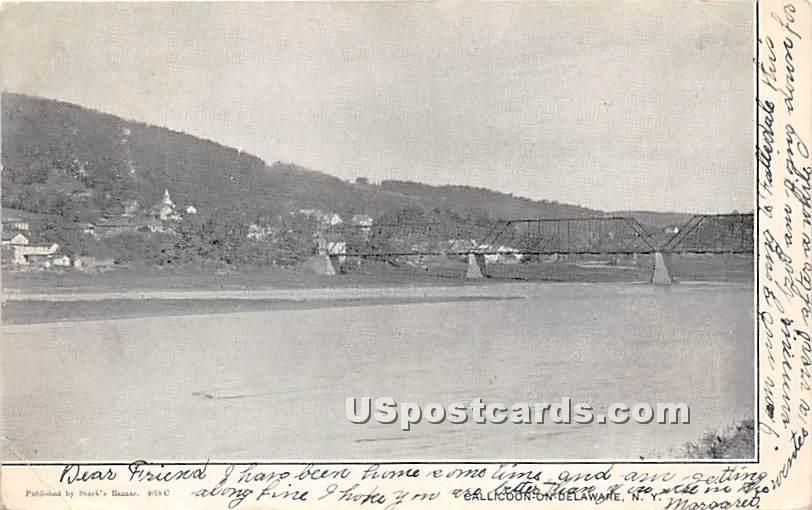 Bridge and Water Scene - Callicoon, New York NY Postcard
