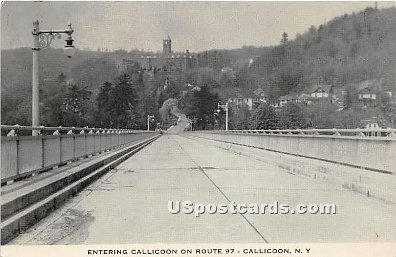 Entering Calliccon on Route 97 - Callicoon, New York NY Postcard