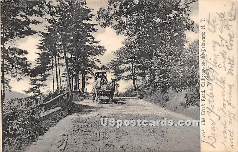 The Creek Road - Callicoon, New York NY Postcard