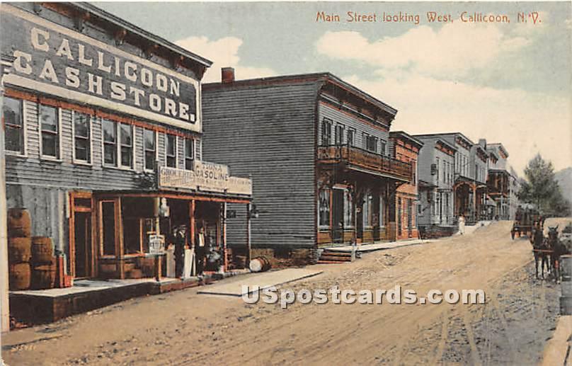 Main Street - Callicoon, New York NY Postcard