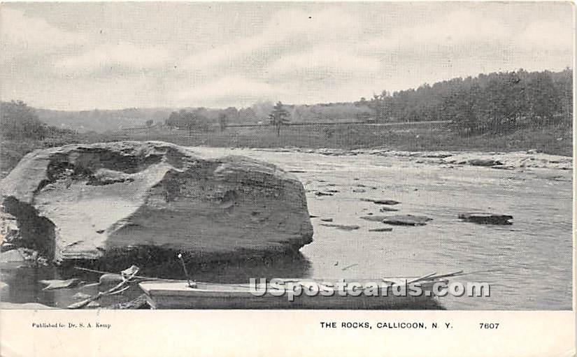 The Rocks - Callicoon, New York NY Postcard