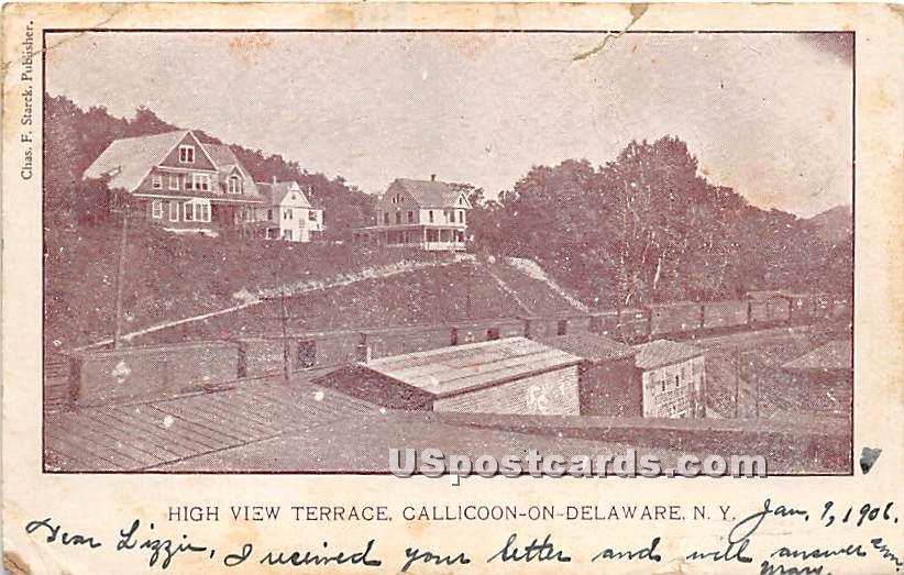 High View Terrace - Callicoon, New York NY Postcard