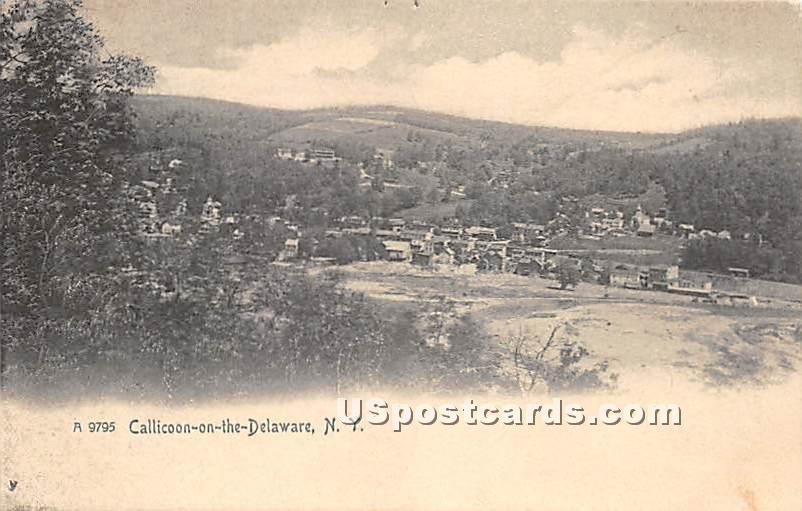 Callicoon on the Delaware - New York NY Postcard