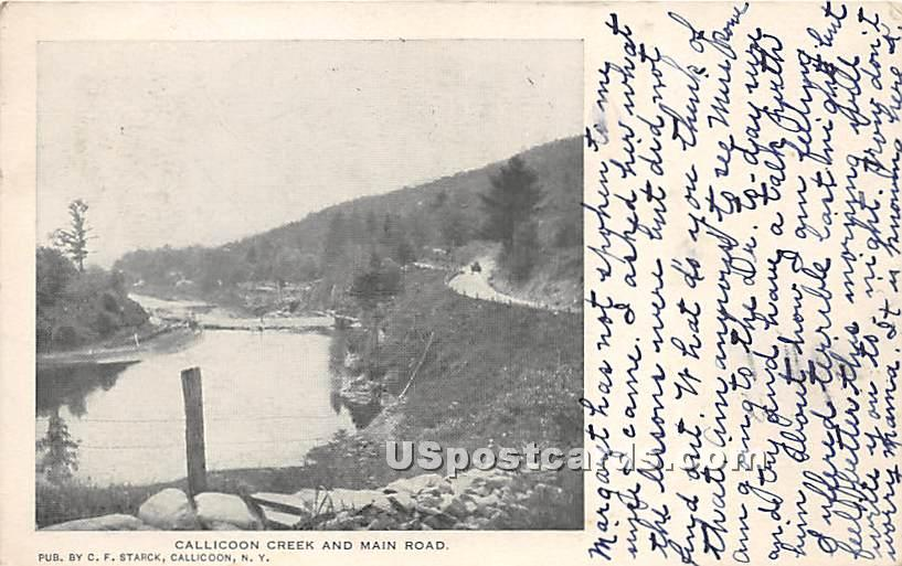 A Mountain Drive - Callicoon, New York NY Postcard