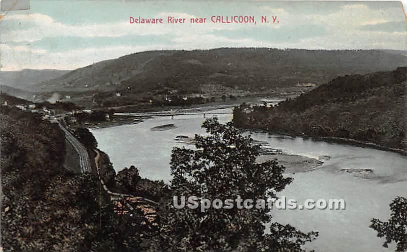 Delaware River - Callicoon, New York NY Postcard