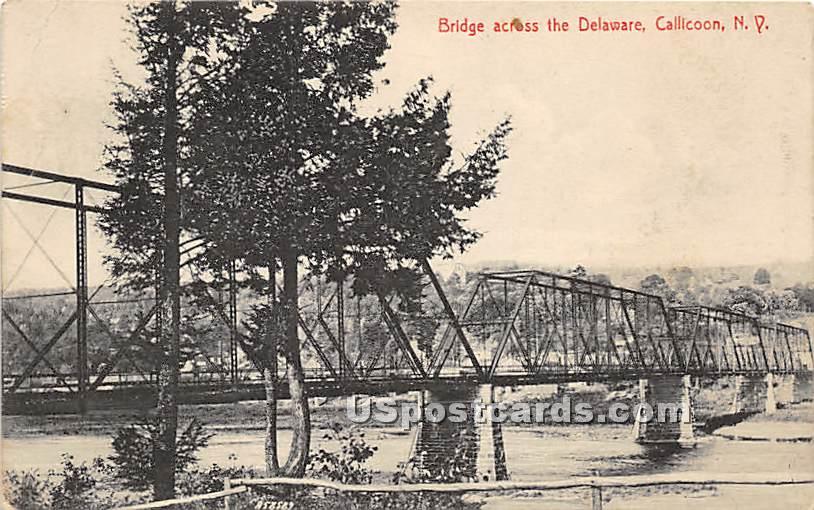 Bridge across of the Delaware - Callicoon-On-Delaware, New York NY Postcard
