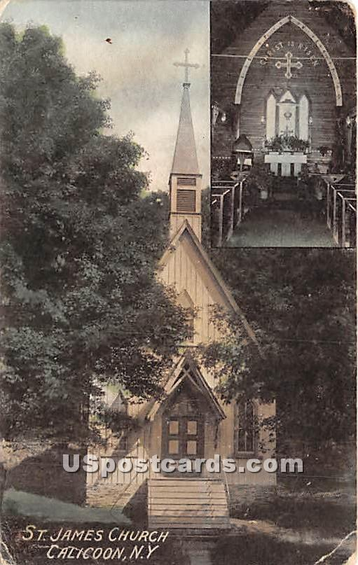 St James Church - Callicoon, New York NY Postcard