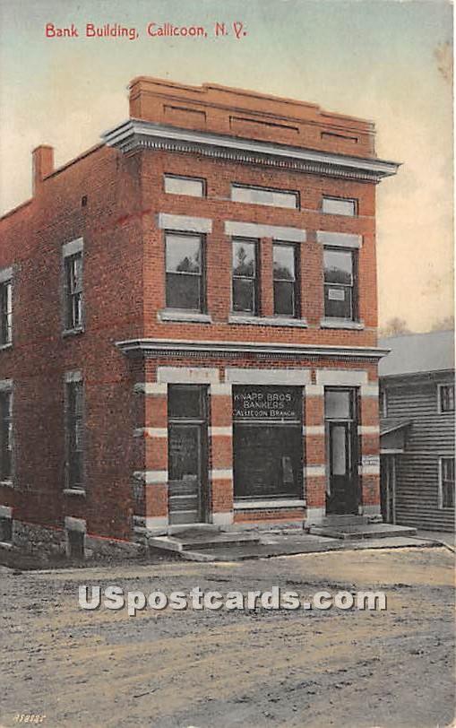 Bank Building - Callicoon, New York NY Postcard