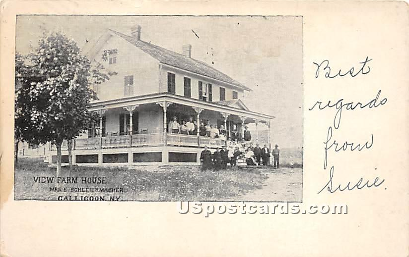 View Farm House - Callicoon, New York NY Postcard