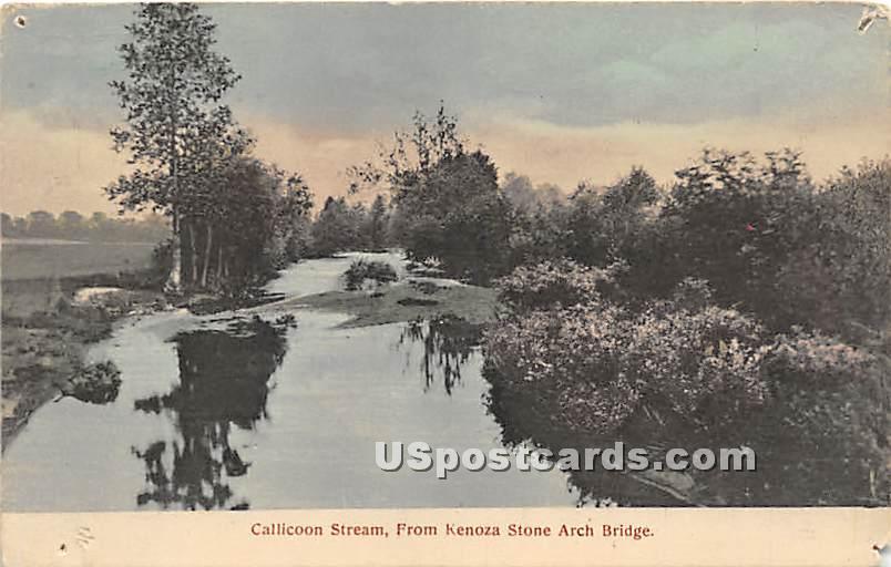 Callicoon Stream - New York NY Postcard