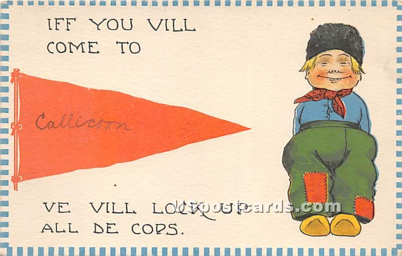 Iff you vill come - Callicoon, New York NY Postcard