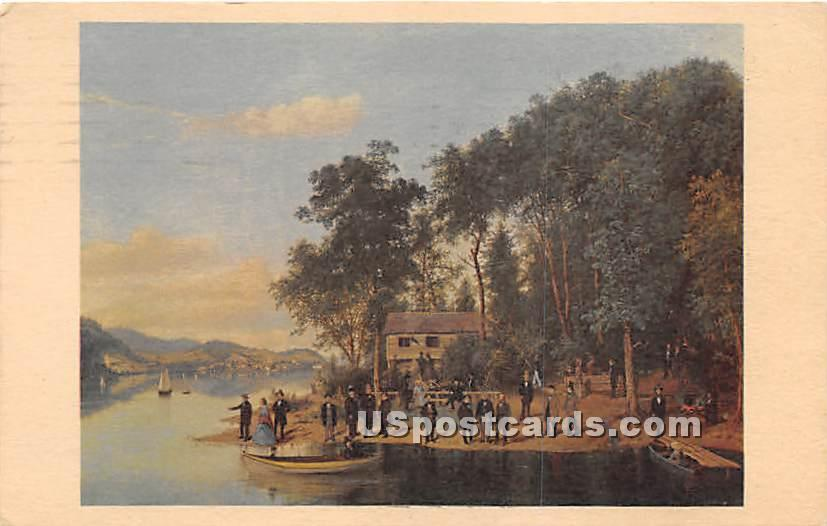 Otsego Lake, Three Mile Point - Cooperstown, New York NY Postcard