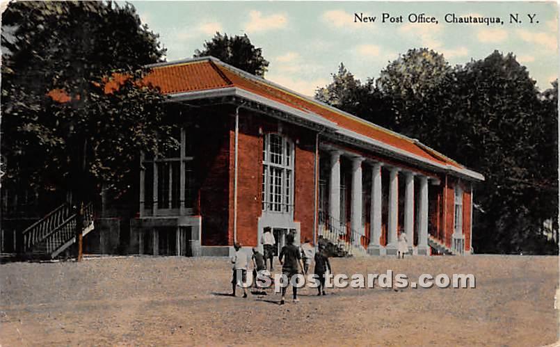 New Post Office - Chautauqua, New York NY Postcard