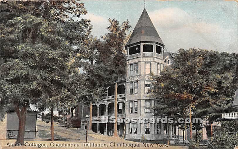 Alaine Cottages, Chautauqua Institution - New York NY Postcard