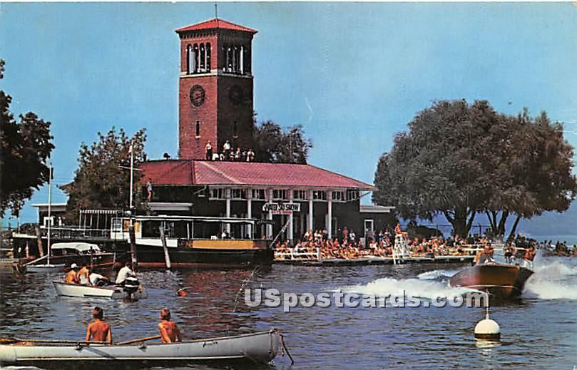 Miller Bell Tower & College Club - Chautauqua, New York NY Postcard