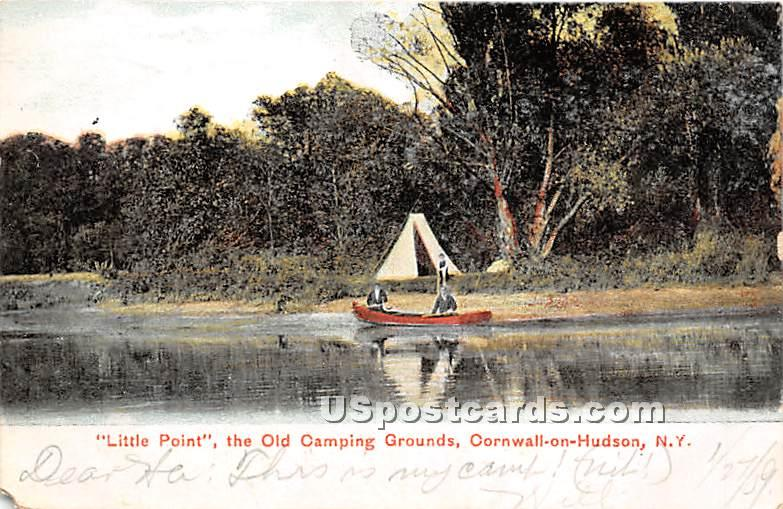 Little Point, Old Camping Grounds - Cornwall on Hudson, New York NY Postcard