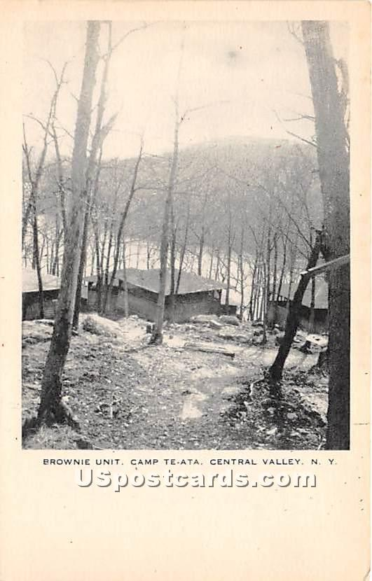 Brownie Unit Camp Te-Ata - Central Valley, New York NY Postcard