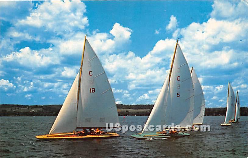 Sailing, Chautauqua Lake - New York NY Postcard