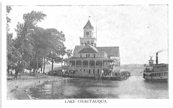 Lake Chautauqua New York Postcard