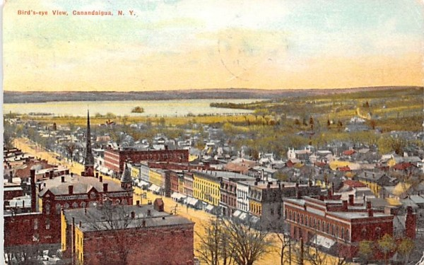 Bird's Eye View Canandaigua, New York Postcard