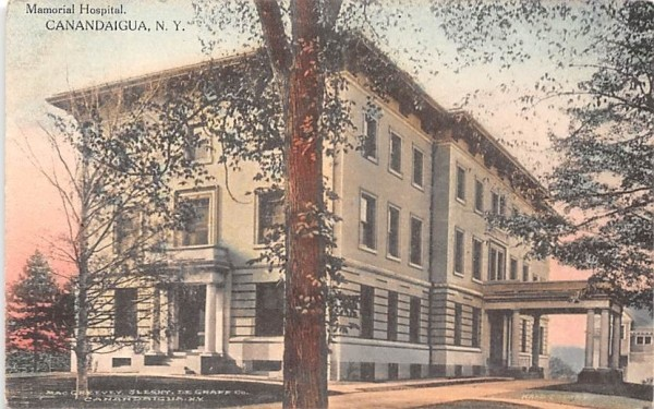 Memorial Hospital Canandaigua, New York Postcard