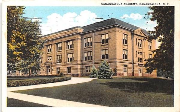 Canandaigua Academy New York Postcard