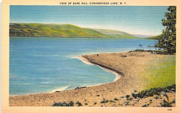 Bar Hill Canandaigua, New York Postcard