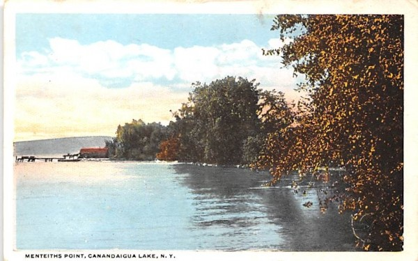Menteiths Point Canandaigua, New York Postcard