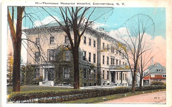 Thompson Memorial Hospital Canandaigua, New York Postcard