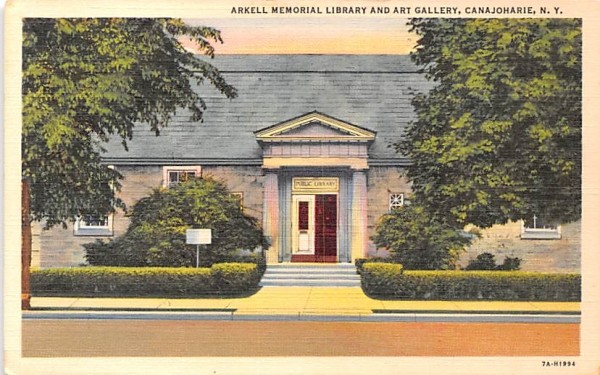 Arkell Memorial Library & Art Gallery Canandaigua, New York Postcard