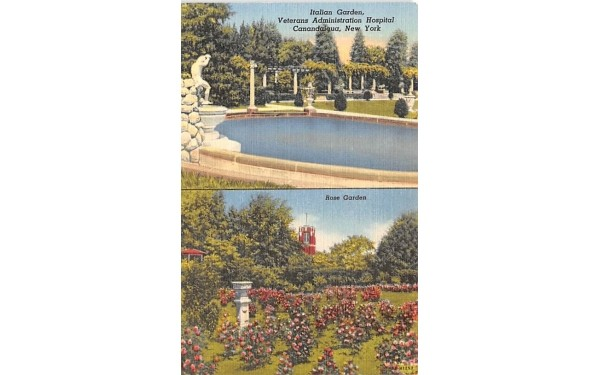Italian Garden Canandaigua, New York Postcard