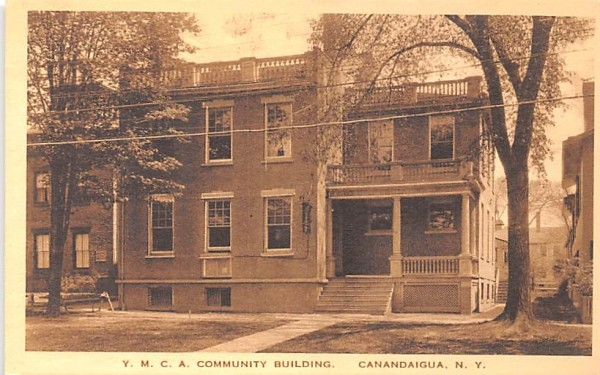 YMCA Community Building Canandaigua, New York Postcard