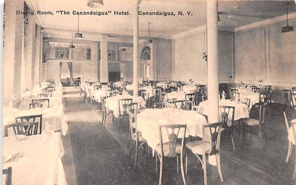 Canandaigua Hotel New York Postcard