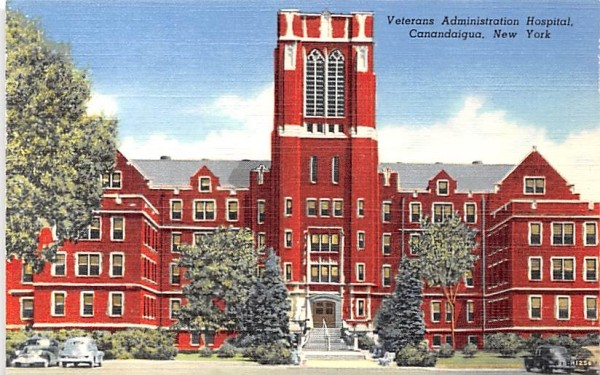 Veterans Administration Hospital Canandaigua, New York Postcard
