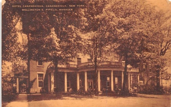 Hotel Canandaigua New York Postcard