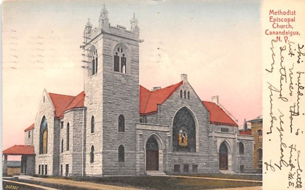 Methodist Episcopal Church Canandaigua, New York Postcard