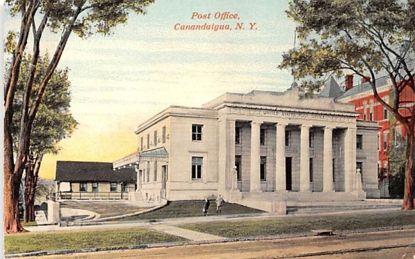 Post Office Canandaigua, New York Postcard