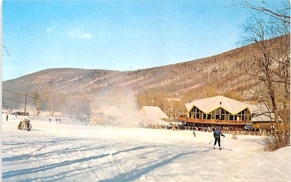 Winter Sports Canandaigua, New York Postcard